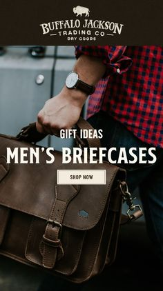 Men's vintage full-grain brown leather briefcases. Our handmade briefcases are where men's fashion meets function. With well-designed space for laptops and more, we craft briefcase bags and briefcases for men who take care of business. Briefcase For Men, Leather Briefcase, Leather Satchel, Leather Men, Brown Leather, Leather Bags, Best Bridesmaid Gifts, Waxed Canvas Bag, Rugged Men