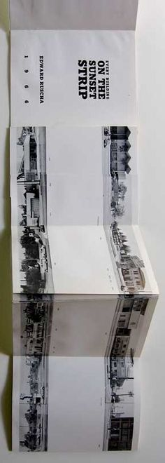 "Edward Ruscha ""EVERY BUILDING ON SUNSET STRIP"", Self Published, 1971. First Edition, Limited 1000 copies"