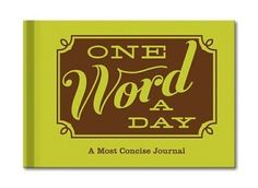 A journal that gives you space to write just one word to capture each day. LOVE this idea so much. :: One Word a Day Journal by Knock Knock