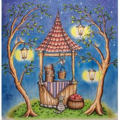 I absolutely enjoyed doing this sweet picture! Eriy's Romantic Country1 Chapter 3 - The Old Well. Prismacolors, Polychromos, Luminance and Pan Pastels for the background. Stars with a white Gelly Roll. #romanticcountry #romanticcountrycolouringbook #eriy #colouring #colouringbook #enchantedcoloring #colorindolivrostop #coloring_masterpieces #coloring_secrets #goodwivesandwarriorscoloringbooks #docepapelatelier #arte_e_colorir #coloring_secrets #coloring_masterpieces #arte_e_colorir…