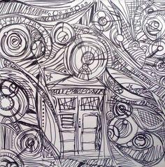 Doctor who line art. A doodle design for printing. Doctor Who and the TARDIS line art Tardis Art, Doodle Designs, Dr Who, Doctor Who, Line Art, Doodles, Fandom, Deviantart, Abstract
