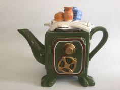 Seymour Mann Whimsical Safe Teapot, Safe Shaped Teapot.