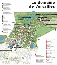 1920s Leconte Map of Versailles Gardens 1664 Franse tuin