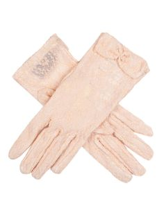 Peach women's pastel lace gloves with a lace bow detail. Composition: Nylon Lining: Unlined Button Length B/L – These gloves extend approximately inches above the wrist. Lace Gloves, Leather Gloves, 70s Hats, Chevron Frames, Lace Bows, Occasion Wear, Neck Scarves, Best Brand, 1960s
