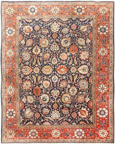 Antique Persian Tabriz Rug 47064 Main Image - By Nazmiyal
