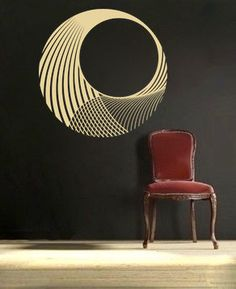 Circular Wave vinyl Wall DECAL- interior design, sticker art, room, home and business decor. $33.00, via Etsy.