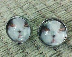 Custom kitty earrings - dogs done too! £3.50