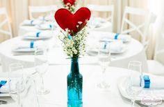 Centro de mesa perfeito!  Caso Real: noivado DIY de origami da Rafa e do Thiago | Casar é um barato