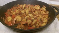 Spanish Shrimp  @Sean Glass Flanagan Health & Nutrition Coaching    *Inspired by a dish from Truffles Grille & Wine Bar and modified significantly and based on an Emerill recipe.