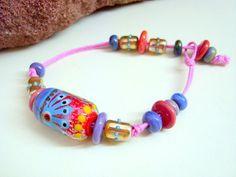 jasmin french handmade lampwork bracelet   fizzyfunky  SRA