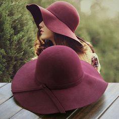 2017 New Pillbox Hat Women's Wide Brim Felt Bowler Fedora Hat Floppy Sun Bowknot Cloche Cap Women's Large Hat 10 Colors outdoor #yanyanmumu #Fedoras #women_clothing #stylish_Fedoras #style #fashion