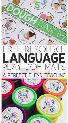 Free Play-doh mats! Easily target multiple language goals while all engaging in the same activity.