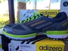Men's Adizero golf shoes by Adidas. Available in the Desert Willow Golf Shop. #adizero #adidas #golfisgreat #golfshoes