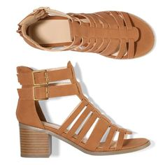 Let the games begin in these leatherlike gladiator sandals with double adjustable ankle-strap buckles for a flexible fit, and back zipper for easy on/off. Regularly $29.99, buy Avon Fashion online at http://eseagren.avonrepresentative.com