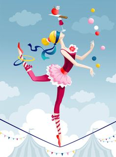 Illustration about Circus performer juggling with balls on tightrope. Illustration of color, female, girl - 15070714 Image Circus, Circus Art, Circus Theme, Circus Performers, Working Mums, Kids Laughing, Leave Early, Young Life, Swim Lessons