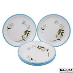 Nayasa Dinner Plates: Buy Nayasa Mf Round Quarter Plate Dlx Set Of 6 Pcs, Blue Online | Oyekitchen.com