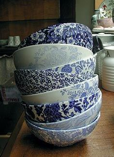 A good source to find blue and white dishes.