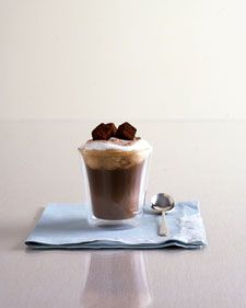 Viennese Coffee Float (chocolate ice cream, Nutella, espresso and Jamaican rum) from Martha Stewart Hazelnut Ice Cream, Chocolate Ice Cream, Chocolate Hazelnut, Hazelnut Spread, Homemade Chocolate, Wedding Signature Drinks, Dessert Buffet, Thing 1, Coffee Recipes