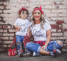 Cool Mom & Cool Kids Mommy and Me Dress Mom Mum Kids Family Matching Tshirt Mother Daughter Son Clothes Family Look Outfits Mommy And Me Dresses, Mommy And Me Outfits, Mom Dress, Kids Outfits, Cute Outfits, Mother Daughter Photos, Mother Daughter Matching Outfits, Matching Family Outfits, Mother Daughter Shirts