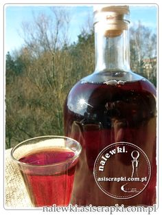 Wyborna nalewka deserowa (czereśniówka) Non Alcoholic Drinks, Beverages, Polish Recipes, Polish Food, Irish Cream, Wine Decanter, Preserves, Whiskey Bottle, Frugal