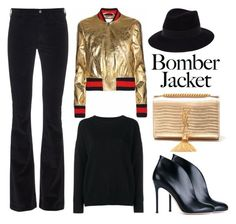 """""""Winter Style: Bomber Jackets"""" by alaria ❤ liked on Polyvore featuring MiH, Gianvito Rossi, Frame Denim, Maison Michel, Yves Saint Laurent, women's clothing, women, female, woman and misses"""