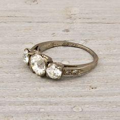 .90 Old European Cut Diamond Engagement Ring
