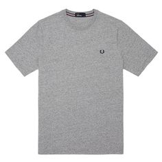 Fred Perry Crew Neck T-Shirt - Vintage Steel Marl