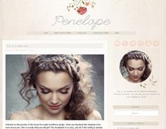 Penelope Wordpress Theme - I like the font of the title :) and the chique look of this. Blog Design, Design Ideas, Blogger Templates, Bridal Looks, News Blog, Wordpress Theme, Packaging Design, Blogging, Hair Makeup