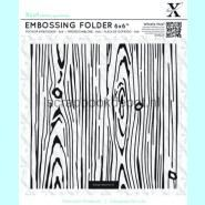 XCut 6x6inch Embossing Folder - Woodgrain