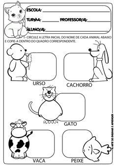 Atividades prontas letra inicial e projeto animais