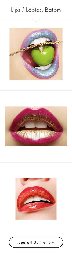 """Lips / Lábios, Batom"" by jaqueline-da-silva-santos ❤ liked on Polyvore featuring lips, beauty products, makeup, lip makeup, lipstick, beauty, labio, pink, lip gloss makeup and glossy lipstick"