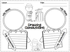 Classroom Freebies Too: Drawing Conclusions Lesson for Reading Tutoring, Teaching Reading, Guided Reading, Learning, Shared Reading, Close Reading, Reading Time, Teaching Ideas, Kindergarten Lessons