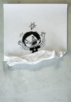 Michael Hacker Illustration » Blog Archive » Aus dem Mistkübel
