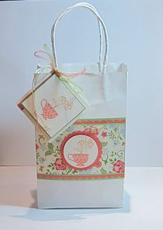 Love the matching tag and so easy with a few punches, stamps and paper.
