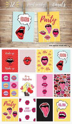 Passion Lips Pack+Love Illustration - Graphics - 5