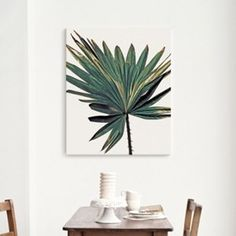 캔버스 아트프레임 식물 인테리어 액자 야자수 나뭇잎