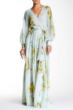 Lilypad Faux Wrap Maxi Dress by Meghan LA on Boho Fashion, Fashion Dresses, Womens Fashion, Fashion Design, Elegant Dresses, Pretty Dresses, Robes Glamour, Maxi Wrap Dress, Knot Dress