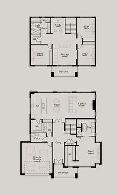 Highmore - Dechellis Homes Family House Plans, Best House Plans, Dream House Plans, House Floor Plans, Double Storey House Plans, Sims House Design, Home Design Floor Plans, Floor Plan Layout, Weekend House