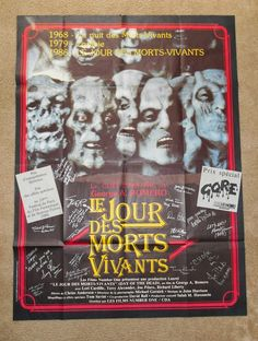 Dr Logan's Chop Shop: The Best DAY OF THE DEAD Blog!: DAY OF THE DEAD French Grande Movie Poster Day Of The Dead Artwork, George Romero, Good Day, Good Things, French, Shop, Movie Posters, Day Of Dead, Buen Dia