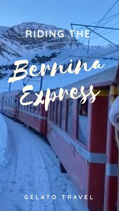 Bernina Express, Switzerland, Travel Inspiration, Neon Signs
