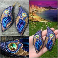 My soutache and beading earrings, made by my talented friend Sylwia Świercz