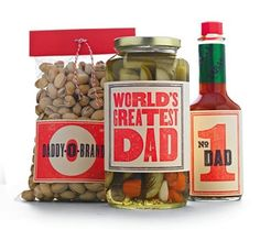 Easy custom food gifts for dad