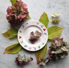 Wild Flowers piece of cake plate #wildflowers #gifts