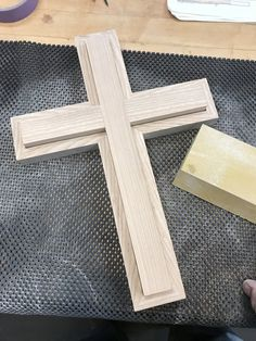 This pair of nesting crosses makes a great wedding gift, and is intended to be used in place of a unity candle or sand ceremony. Once the two crosses are joined, the only way to separate them is to destroy the individuals. Diy Projects For Men, Diy Wooden Projects, Wooden Diy, Handmade Wooden, Cross Wall Art, Cross Wall Decor, Wooden Crosses, Wall Crosses, Woodworking Patterns