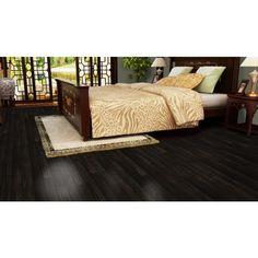 "Mohawk Woodside Hickory Espresso 5"" Wide Engineered Hardwood Flooring"
