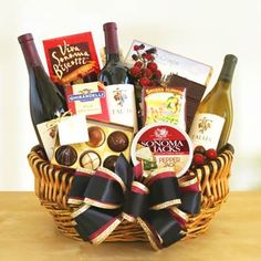 Gourmet Wine Gift Basket.  See more at www.pro-gift-baskets.com!