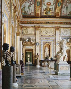 ELLE DECOR GOES TO ROME    The gallery in Rome's Villa Borghese.
