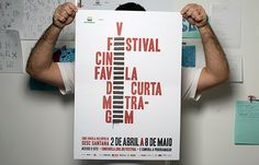 "V Festival Cine Favela de Curta Metragem, designer David Galasse. This poster is for a film festival that happens inside the Brazilian ""favela"" (slums). The desiger translated the grafitti/stencil language in the poster, so it would be easy to reproduce the design in the walls of the community."