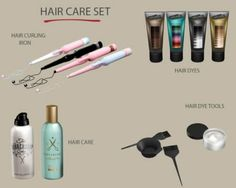 Leo Sims - Hair Care Set for The Sims 4