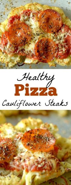 Craving pizza? Make these Cauliflower Pizza Steaks! Super easy to make, easily customizable and they satisfy your pizza cravings! GF with vegan, paleo and Whole30 options!